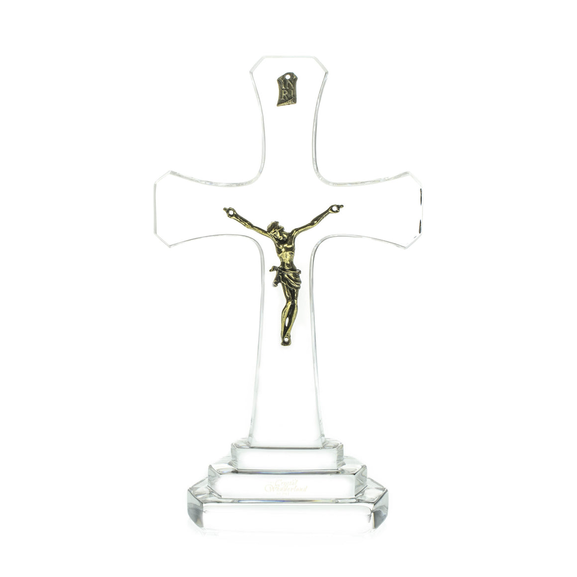 Crystal Cross with Jesus - The Crystal Wonderland