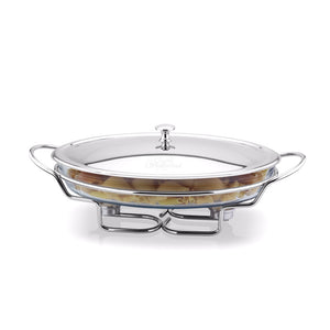 Oval Warmer with stainless steel cover 4lt - The Crystal Wonderland