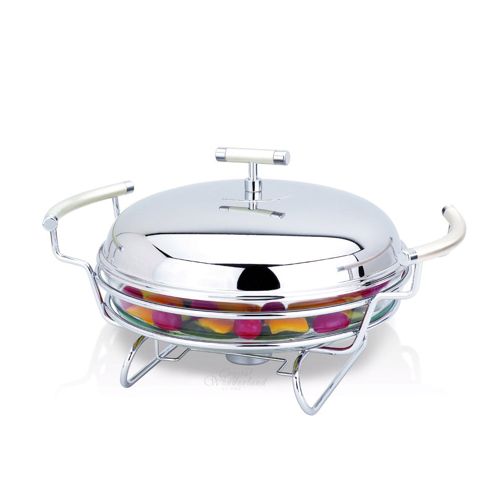 Round Warmer With Stainless Steel Cover 2.5 lt - The Crystal Wonderland