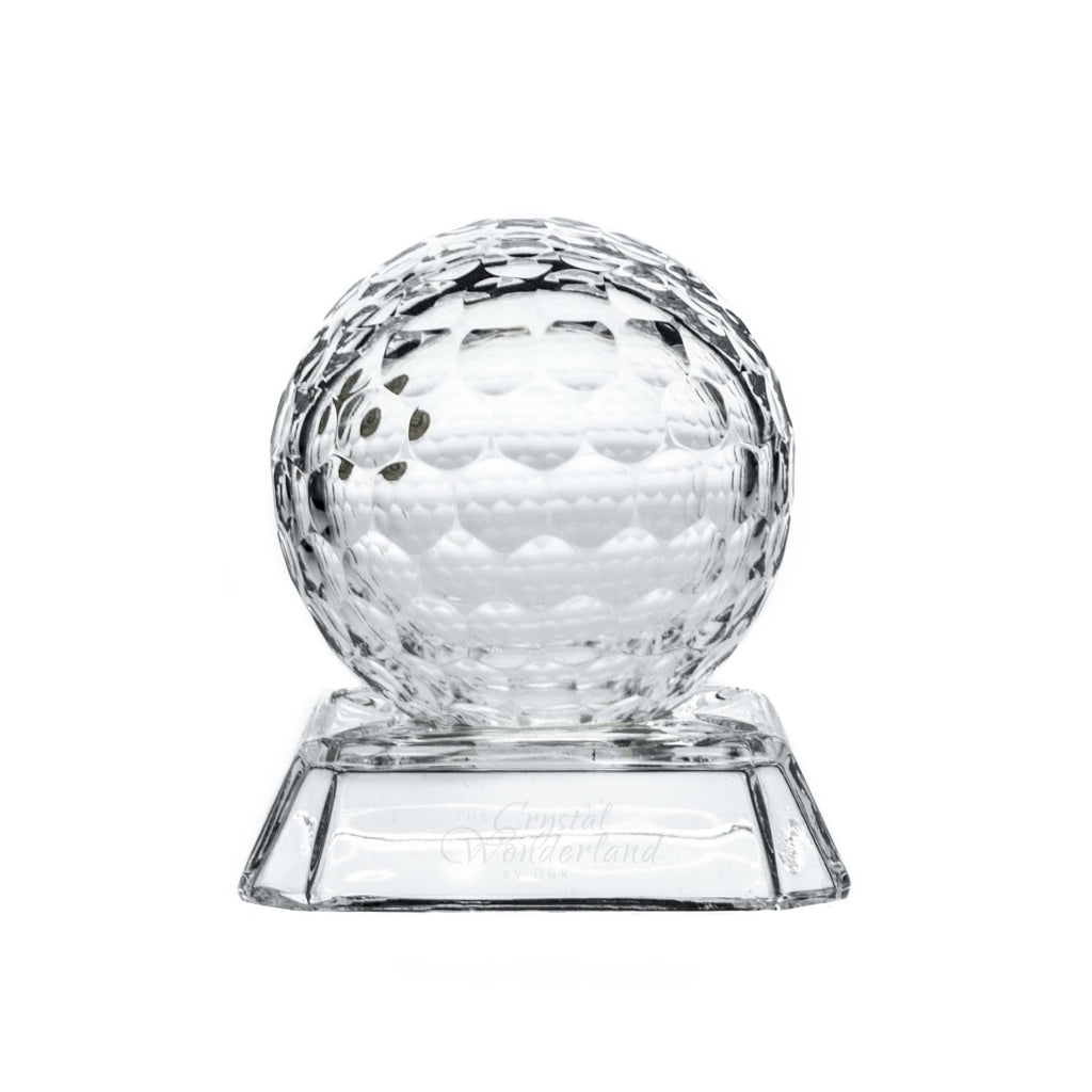 "Small Crystal Golf Ball 4"" - The Crystal Wonderland"