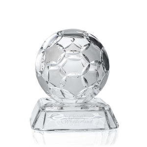 Small Crystal Soccer Ball On a Stand - The Crystal Wonderland - 1