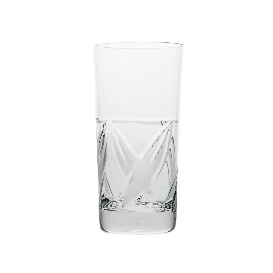 Crystal Leaves Beverage Glasses, Set of 6 - The Crystal Wonderland
