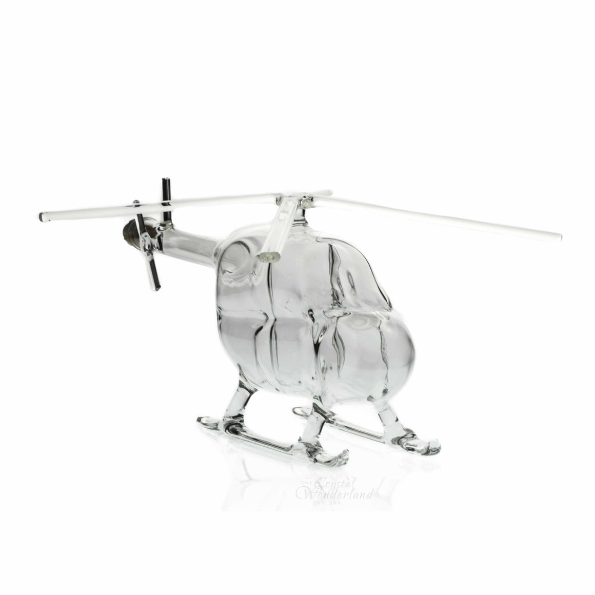 Glass Handmade Helicopter Bottle - The Crystal Wonderland