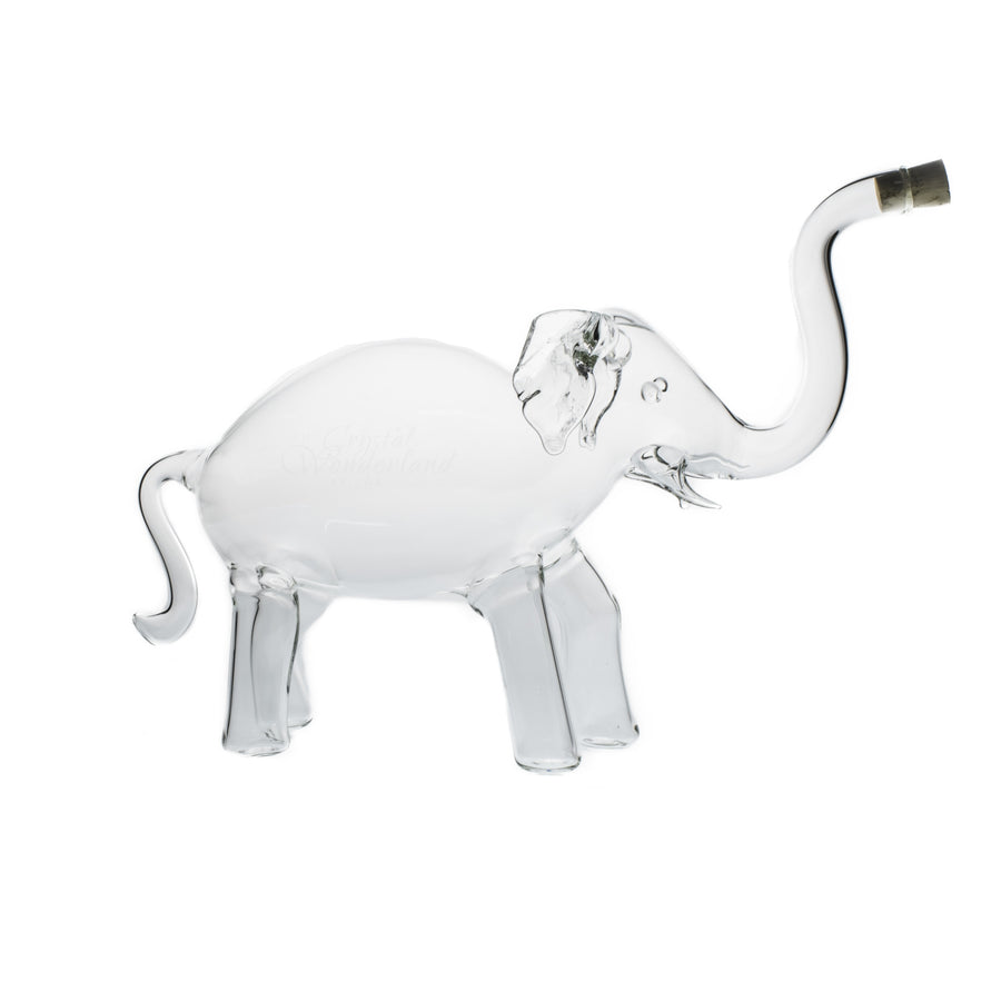 elephant glass bottle