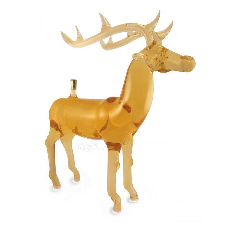 Handcrafted Glass Bottle Deer - The Crystal Wonderland
