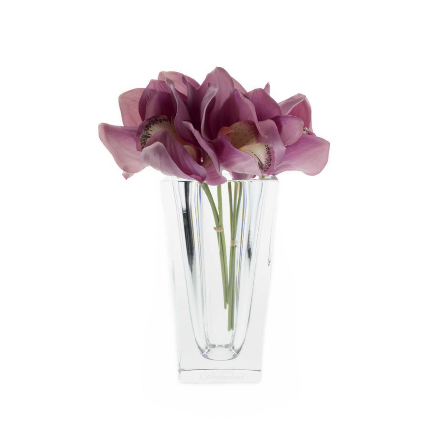 "Square Crystal Bud Vase, 7"" - The Crystal Wonderland - 1"