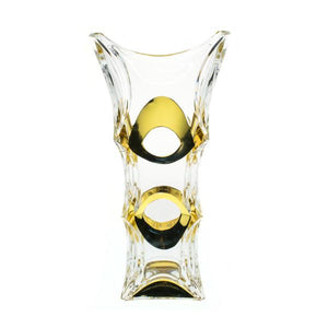 "Vases - Crystal Colored Golden Vase ""Blade"""