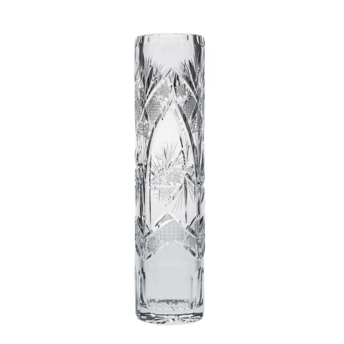 Starlet Crystal Cylinder Vase - The Crystal Wonderland