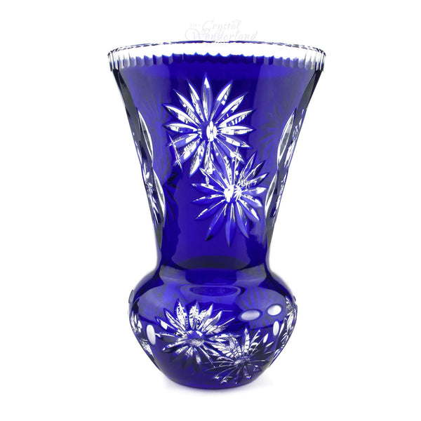 Cobalt Crystal Tall Vase - The Crystal Wonderland