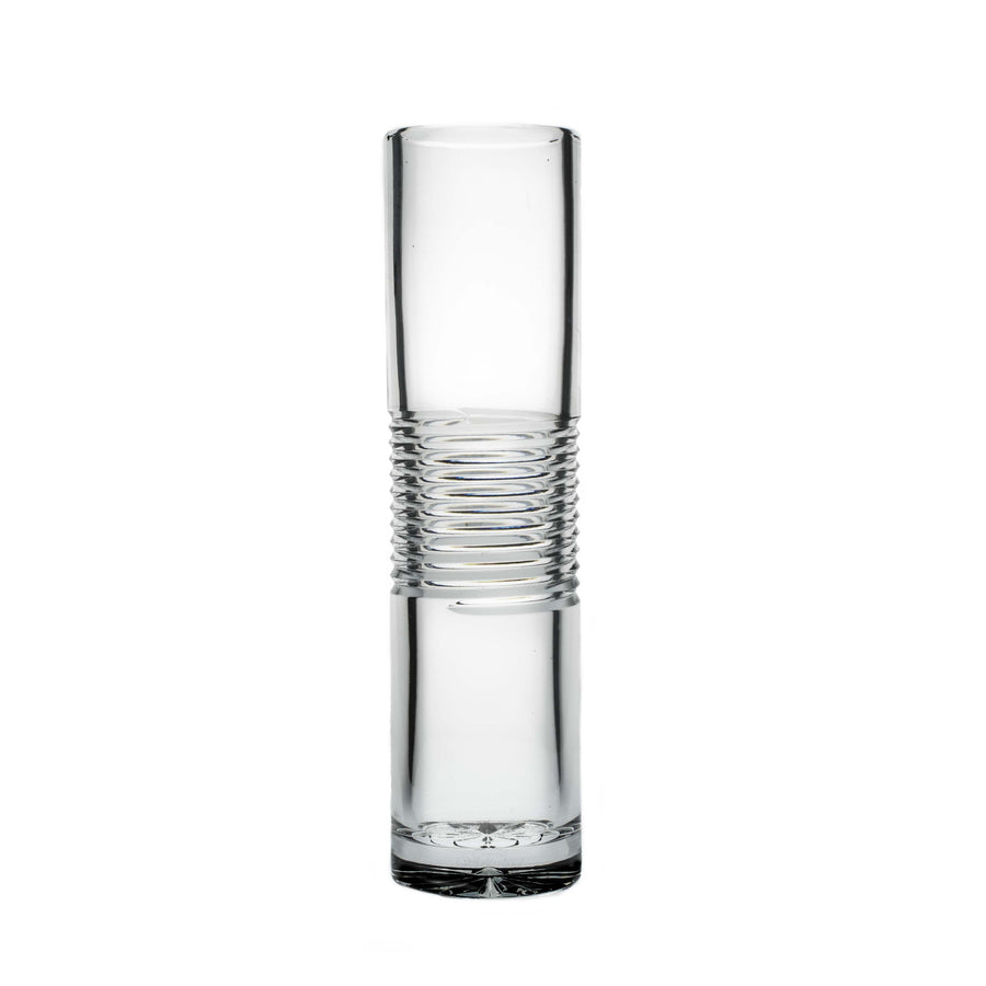 "Spiral Crystal Cylinder Vase, 12"" - The Crystal Wonderland"