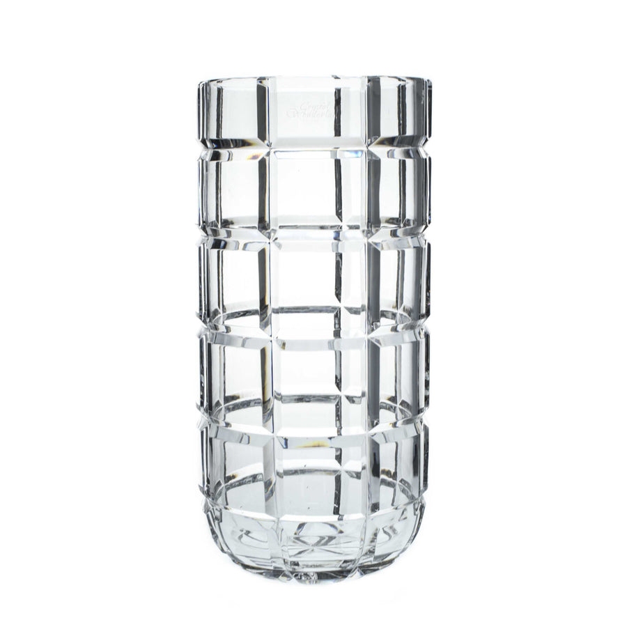 Crystal Squares Tall Vase - The Crystal Wonderland