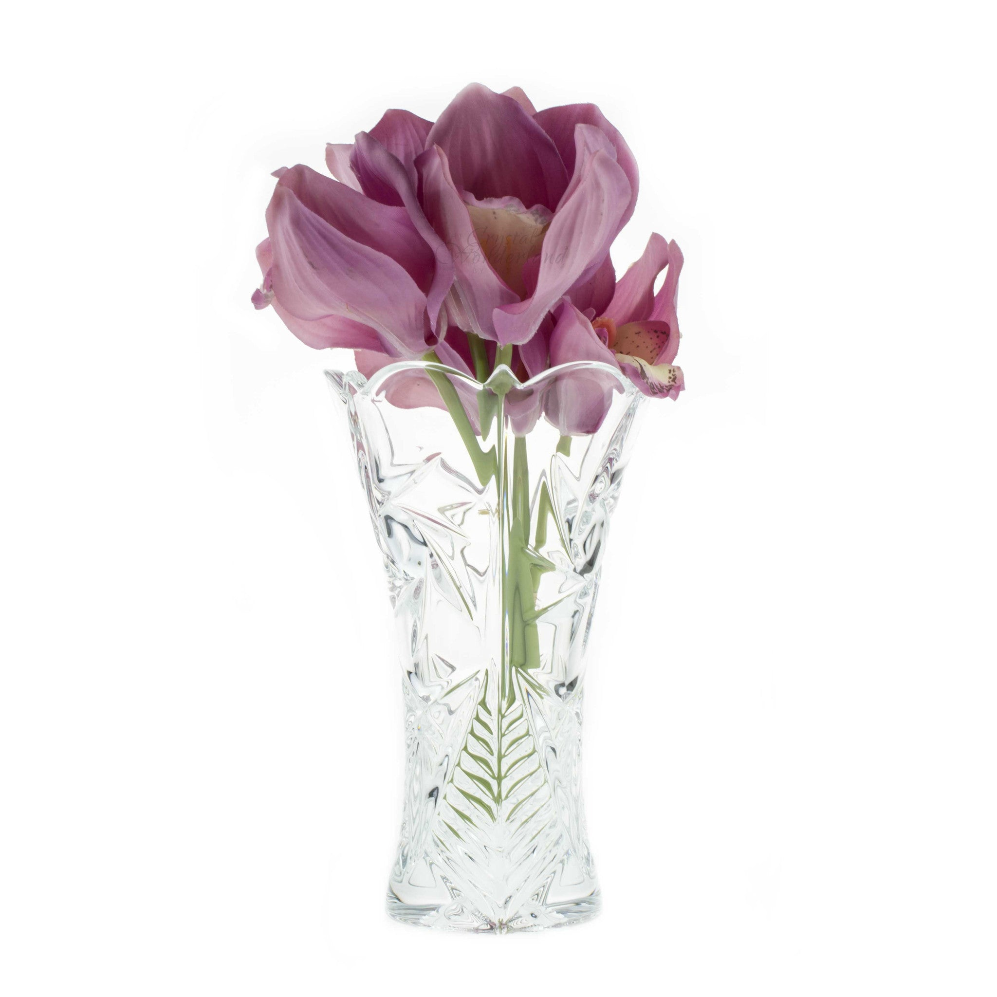Glass flower vase for your shiny home dulcinea glass vase with flowers the crystal wonderland floridaeventfo Images