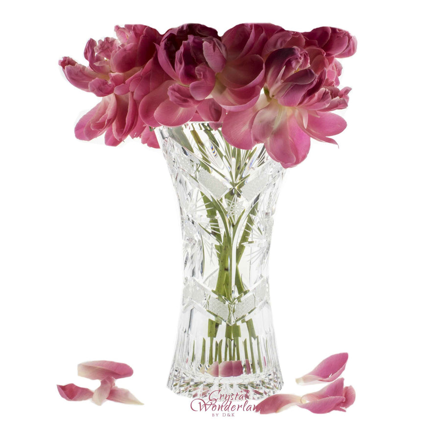 Vases - Starlet Crystal Cut Tall Vase