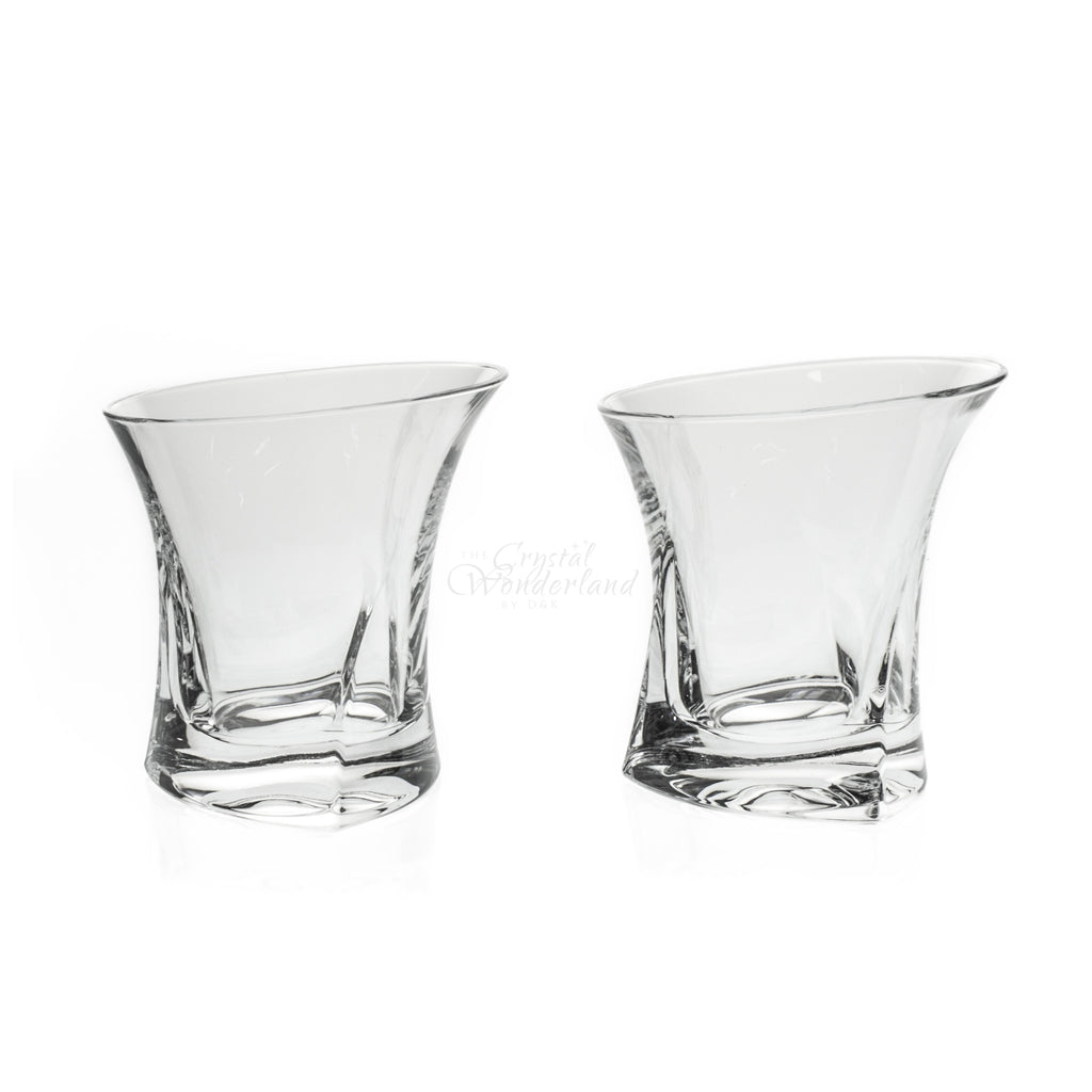 Contemporary Crystal Whiskey Glasses, Set of 6 - The Crystal Wonderland - 2
