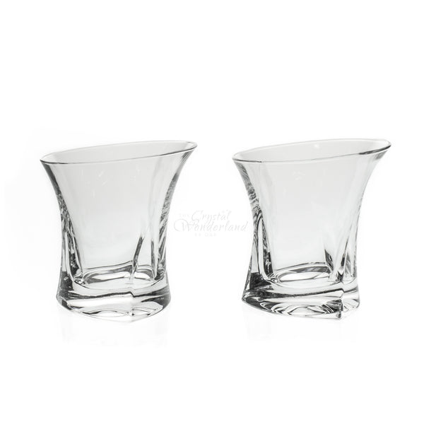 Contemporary Crystal Whiskey Glasses, Set of 6 - The Crystal Wonderland - 1