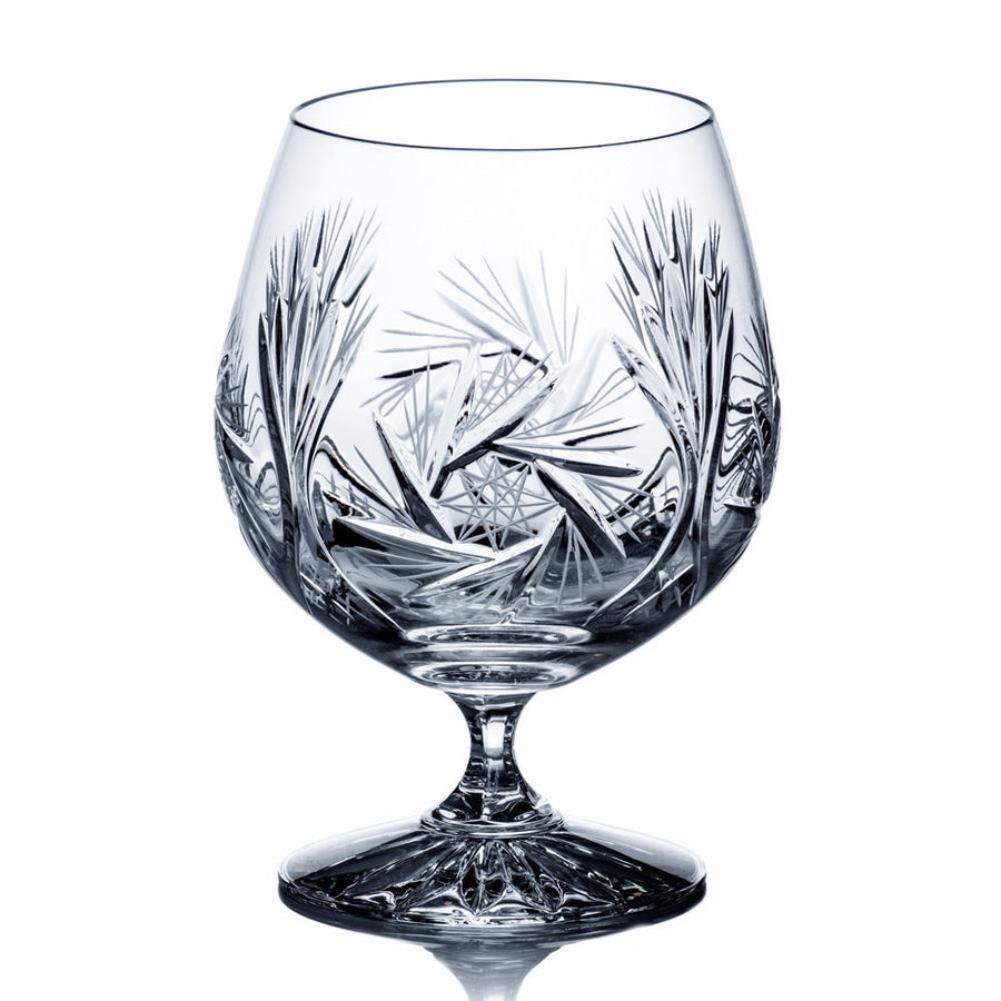 Starlet Crystal Brandy Glasses, Set of 6 - The Crystal Wonderland 2