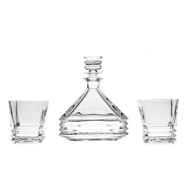 Whiskey Sets - Akordio Crystal Whiskey Decanter & 6 Tumblers