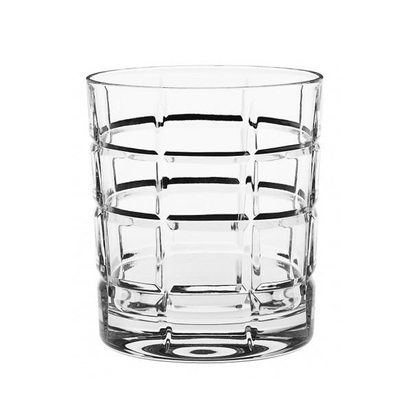 Whiskey Sets - Crystal Big Squares Whiskey Decanter And Six Liquor Glasses