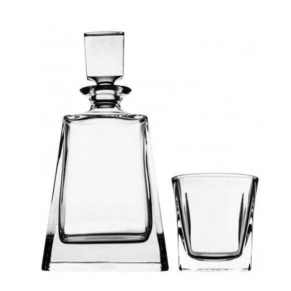 Whiskey Sets - Crystal Clear Contemporary Whiskey Set