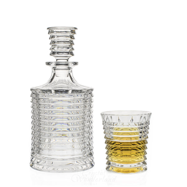 Hurricane Whiskey Decanter & 6 Tumblers - The Crystal Wonderland - 1