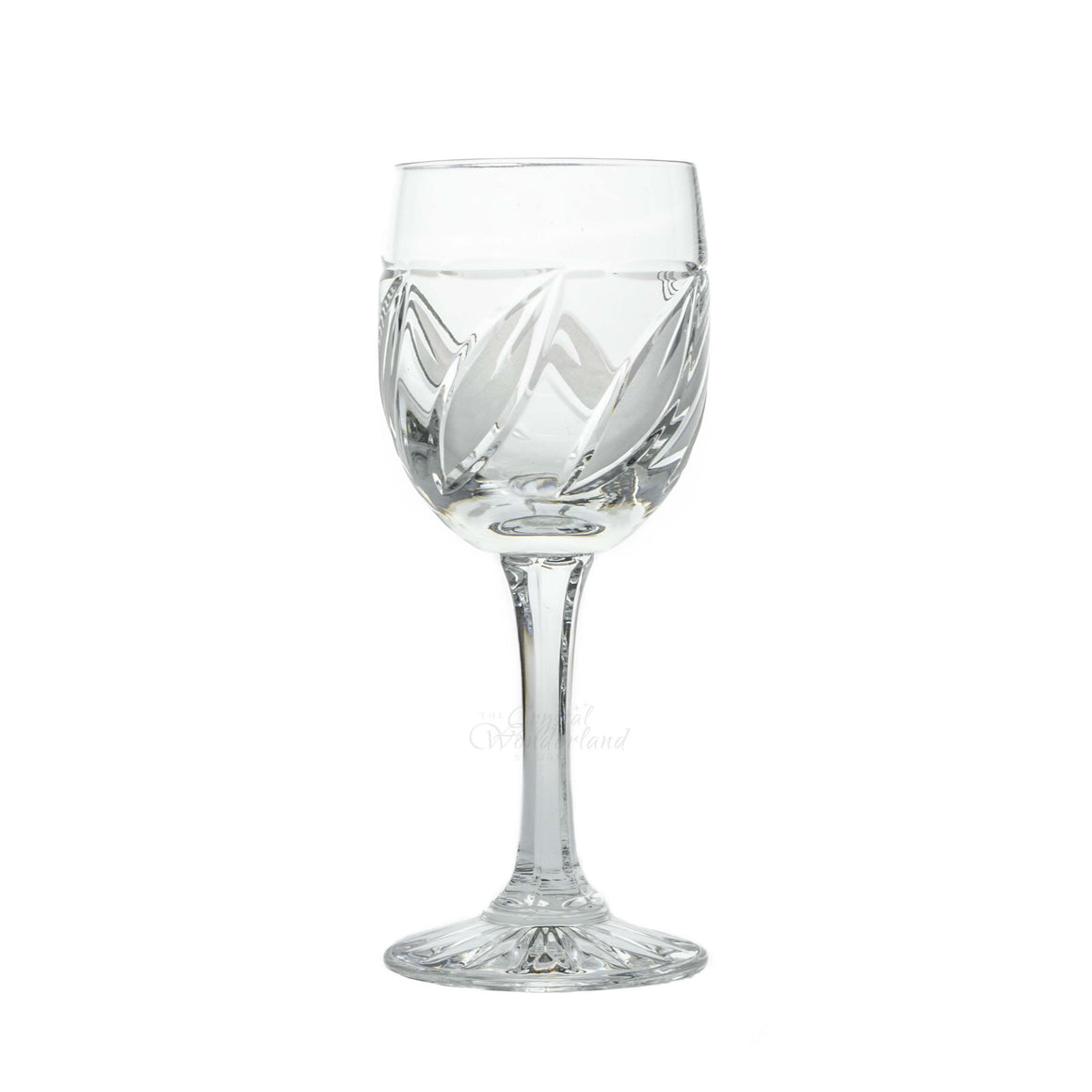 Crystal Leaves Red Wine Glasses, Set of 6 - The Crystal Wonderland