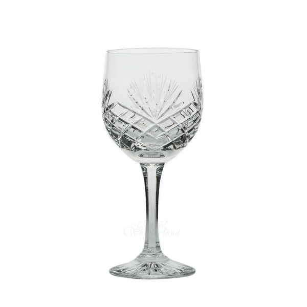 Wine Glasses - Dionysos Crystal Cut Wine Glasses, Set Of 6