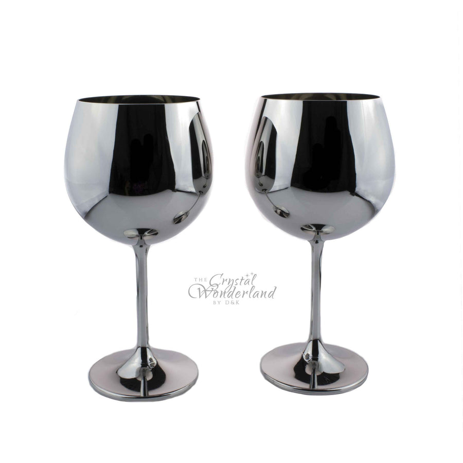 Wine Glasses - Plainum Look Wine Glass