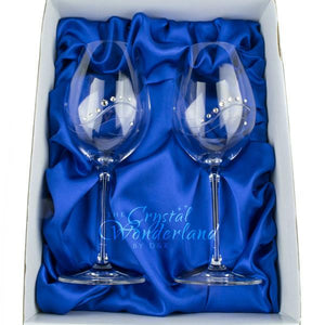 Wine Glasses - Samantha Swarovski Crystals Wine Glasses, Pair