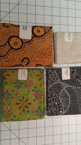 Aboriginal fabrics in pre-cut sizes