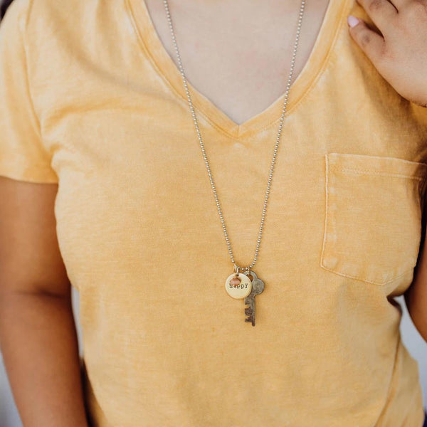 Key to Happiness | Vintage Key Necklace