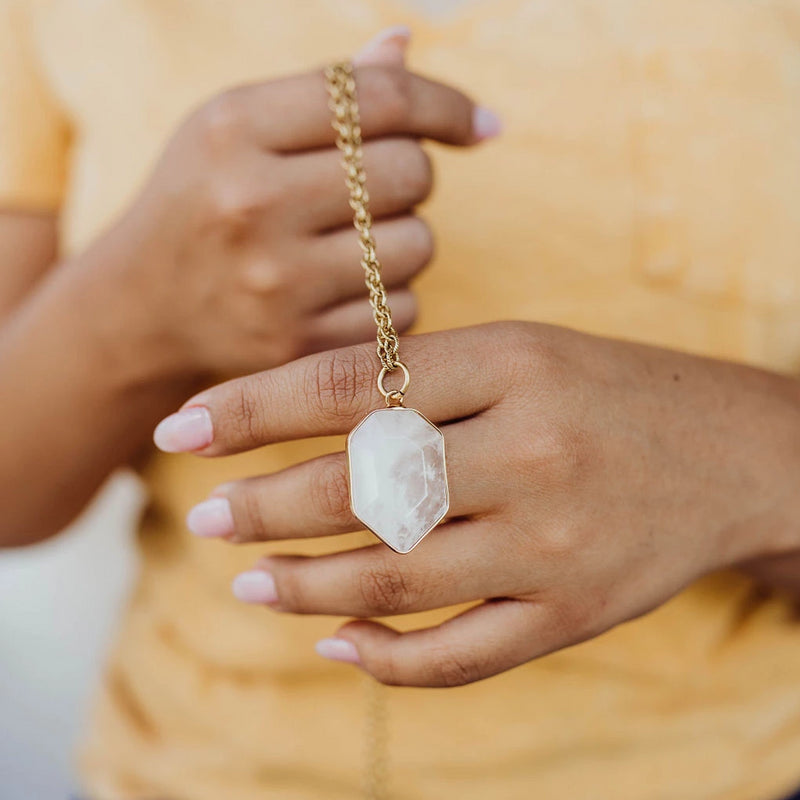 Clearly Creative | Crystal Quartz Necklace