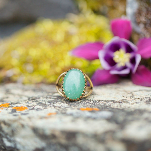 Aventurine | Gemstone Statement Ring