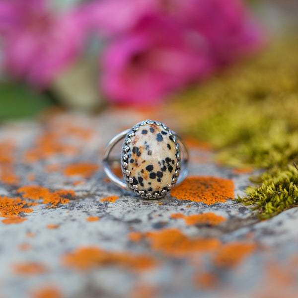 Dalmatian Jasper | Gemstone Statement Ring