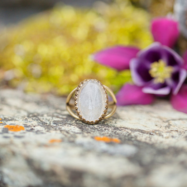Clear Quartz | Gemstone Statement Ring
