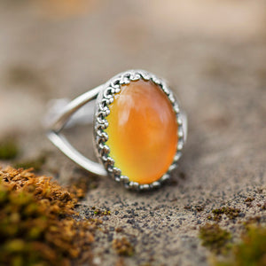 sterling silver large mood ring
