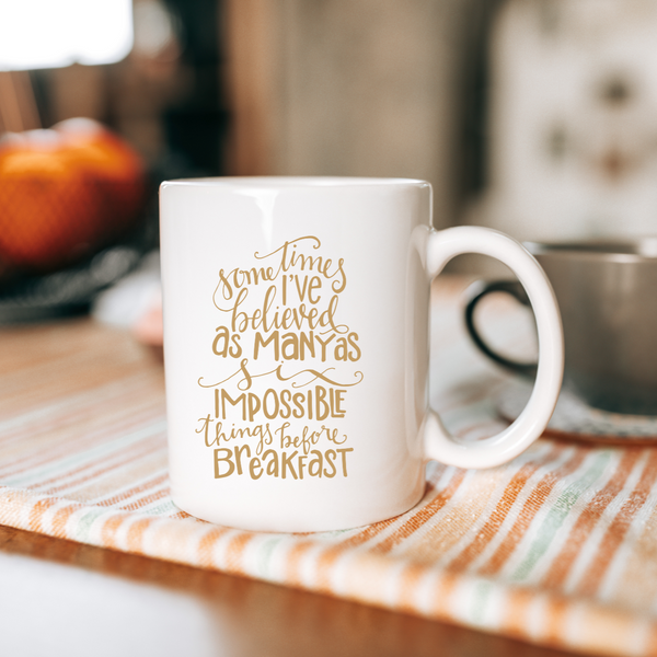 Six impossible things Mug