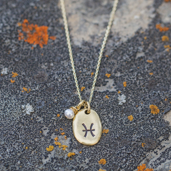 In The Stars | Dainty Gold Zodiac Necklace