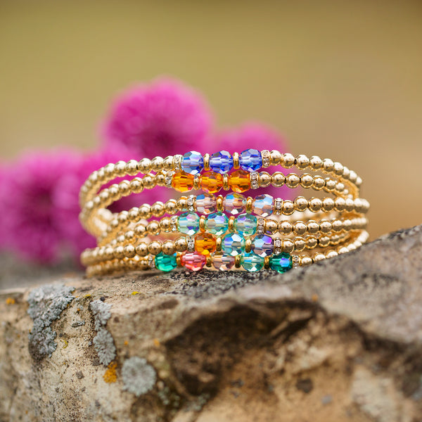 Wonderfully Made | gold Birthstone Bracelet