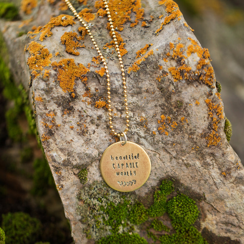 Worthy | Gold Mantra Necklace
