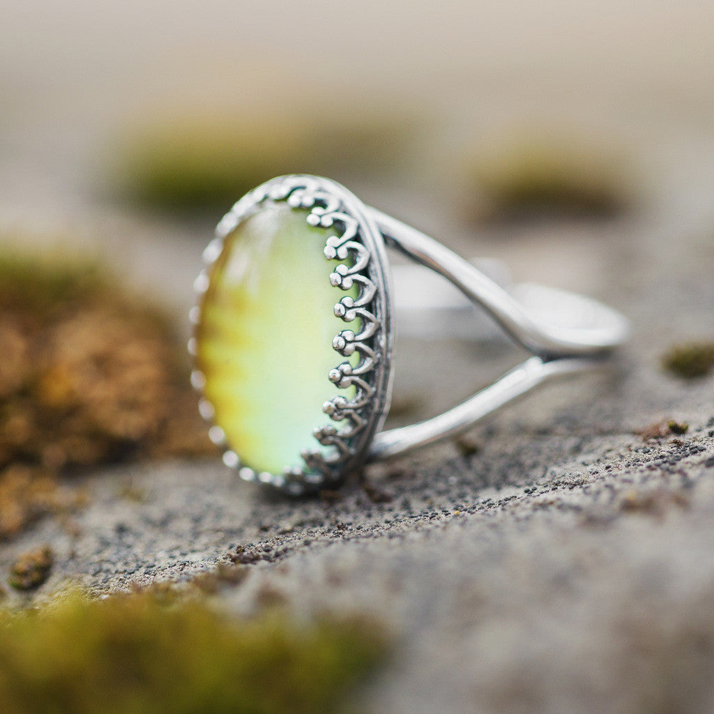 Vintage Silver Oval Mood Ring