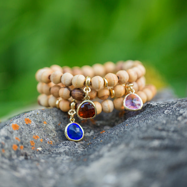True Original | Olive Wood Birthstone Bracelet