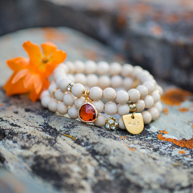 Legacy | Custom Riverstone Bracelet Set