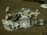 """RETIRED & BRAND NEW"" Build-a-Rama 1:32 Hand Painted WWII ""Winter"" Rubble Pile #5"