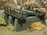"""RETIRED"" Pro Built - Hand painted & Weathered Verlinden 1:35 Custom Built Deluxe Wooden Railway Bridge Ruin"