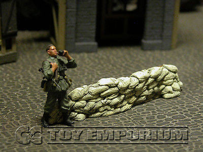"""RETIRED & BRAND NEW"" Build-a-Rama 1:32 Hand Painted WWII Deluxe Sandbag Barricade Wall Section #4"