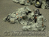 """RETIRED & BRAND NEW"" Build-a-Rama 1:32 Hand Painted WWII Deluxe Rubble Pile #2 Set (3 Piece Set)"