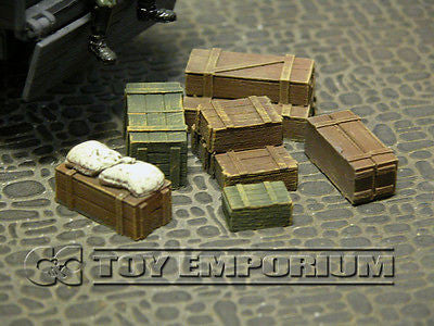 """RETIRED & BRAND NEW"" Build-a-Rama 1:32 WWII Deluxe Stowage Crate Set #2  (6 Piece Set)"
