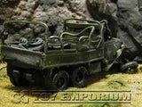 """VERY RARE""  Forces Of Valor 1:32 Scale Custom ""Battle Damaged"" WWII US 2.5 Ton Cargo Truck"