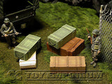 """RETIRED & BRAND NEW"" Build-a-Rama 1:32 WWII Deluxe Large Ammo Crate Set #1  (5 Piece Set)"