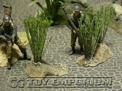 """RETIRED & BRAND NEW"" Build-a-Rama 1:32 Hand Painted Deluxe High Grass Terrain Set (2 Piece Set)"